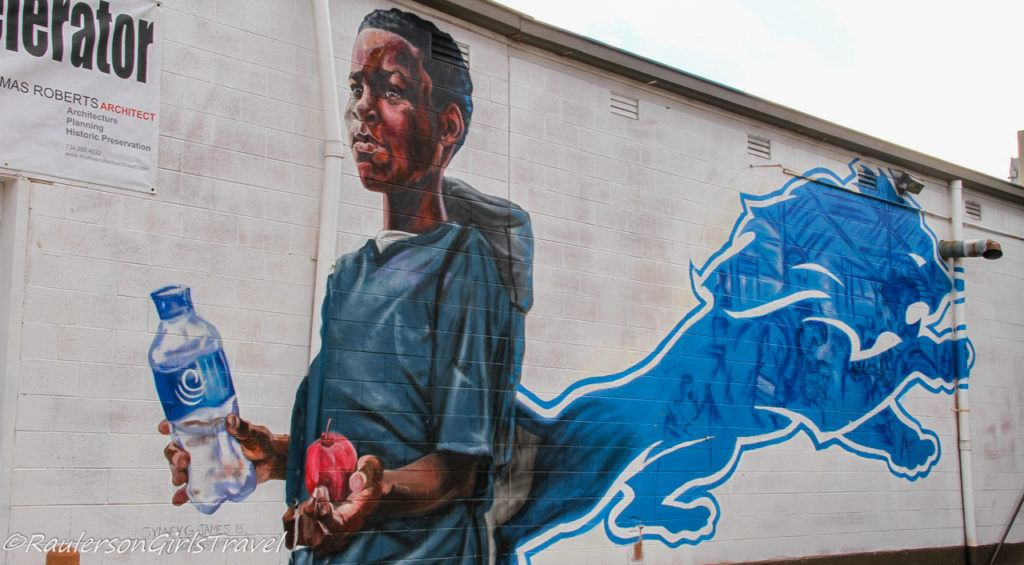 2018 Murals in the Market - Boy Detroit Lions