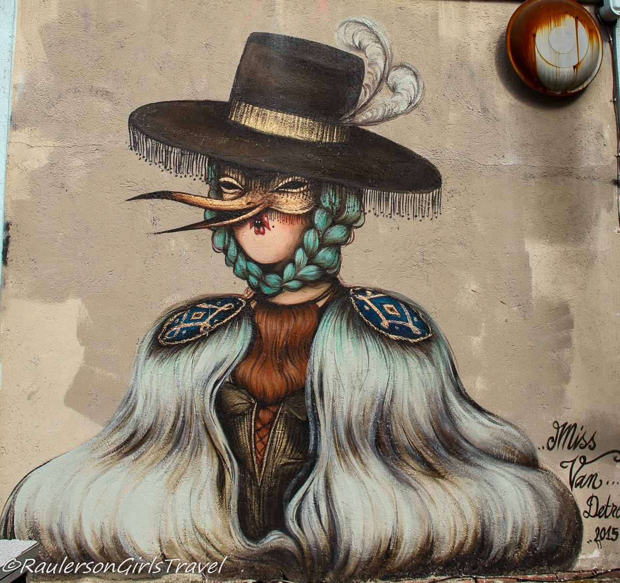 2015 Murals in the Market - lady in mask