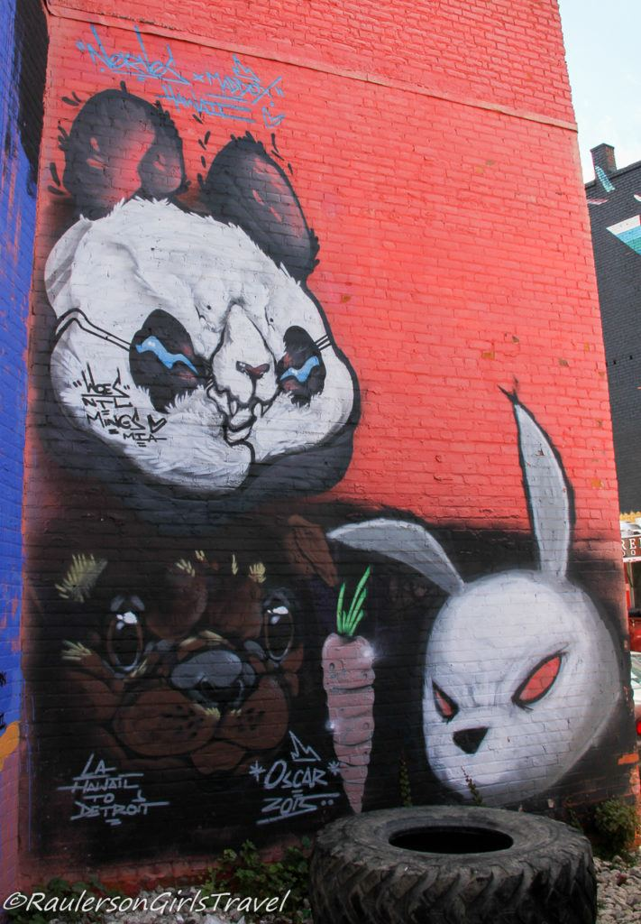 2015 Murals in the Market - Panda and Rabbit