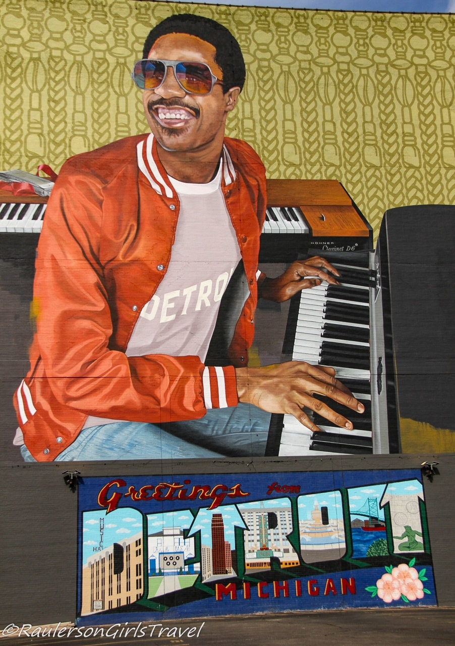 Music Hall Center for the Performing Arts - Stevie Wonder Mural