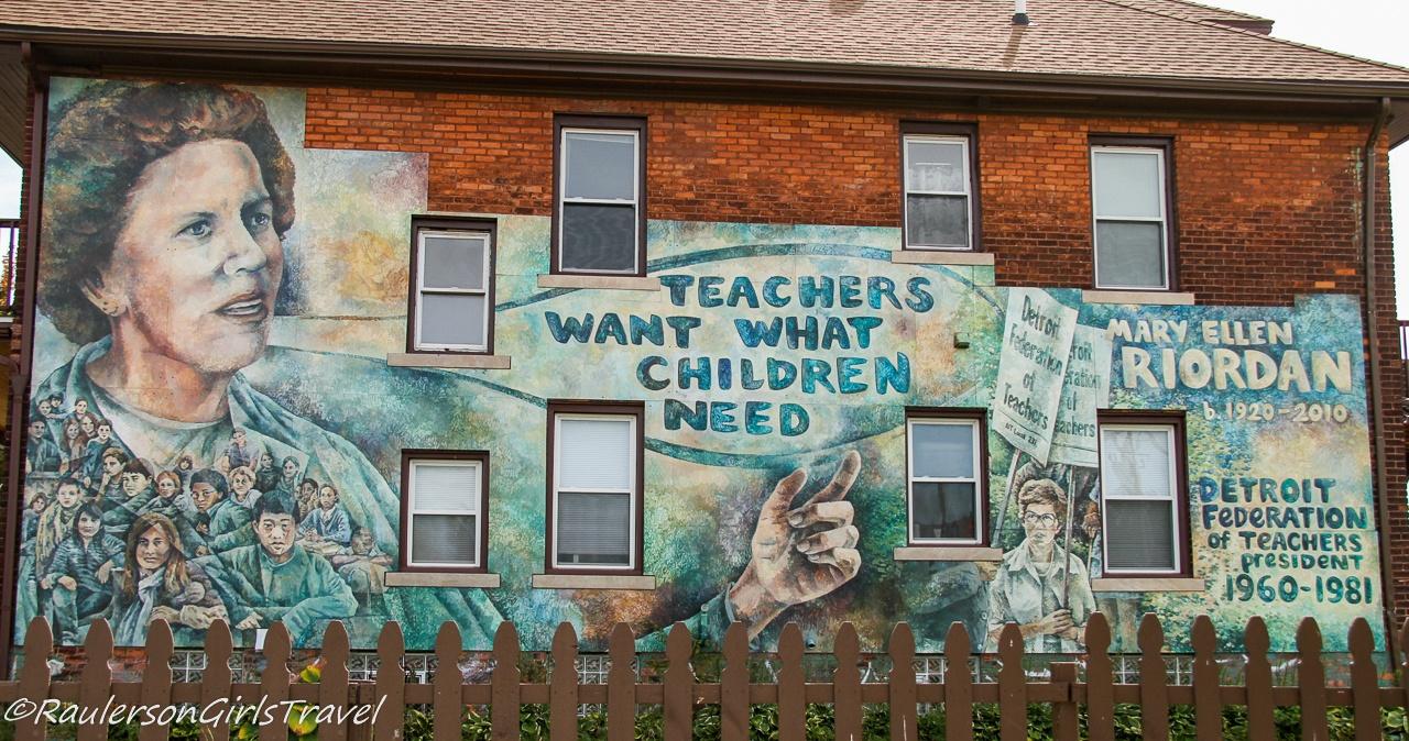 Mary Ellen Riordan Mural - Detroit Street Art