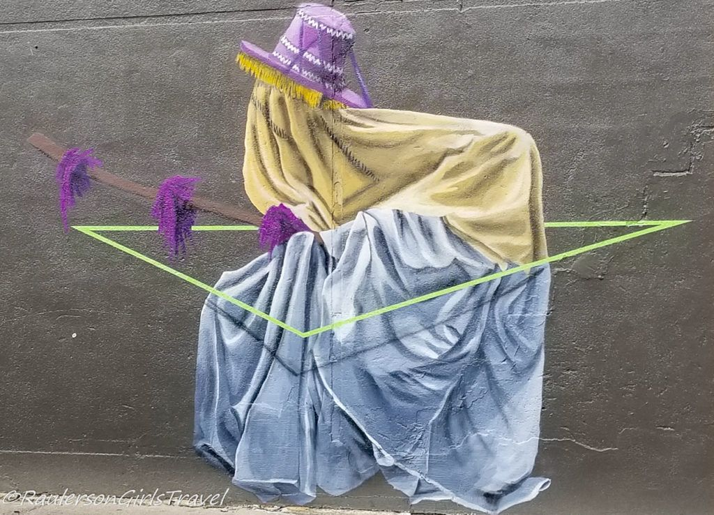 Detroit Street Art - person covered with triangle