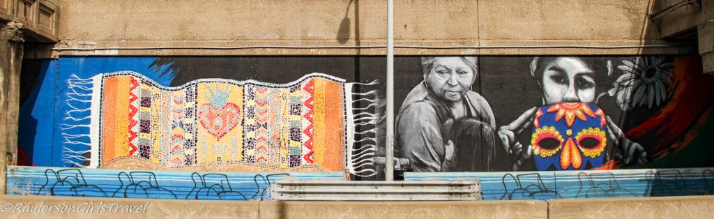 Blanket and Women Street Art in Southwest Detroit