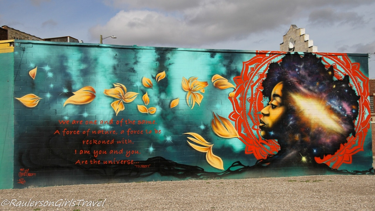 Detroit Street Art - Force of Nature in Lincoln Park
