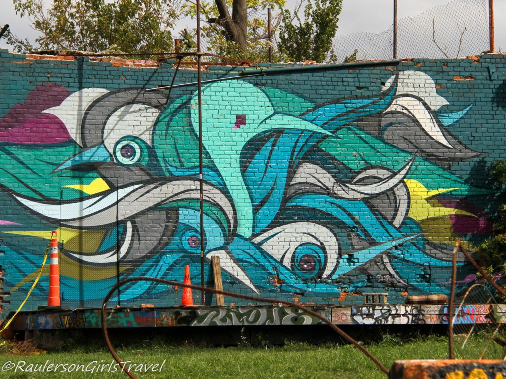 Lincoln Street Art Park - Blue Birds