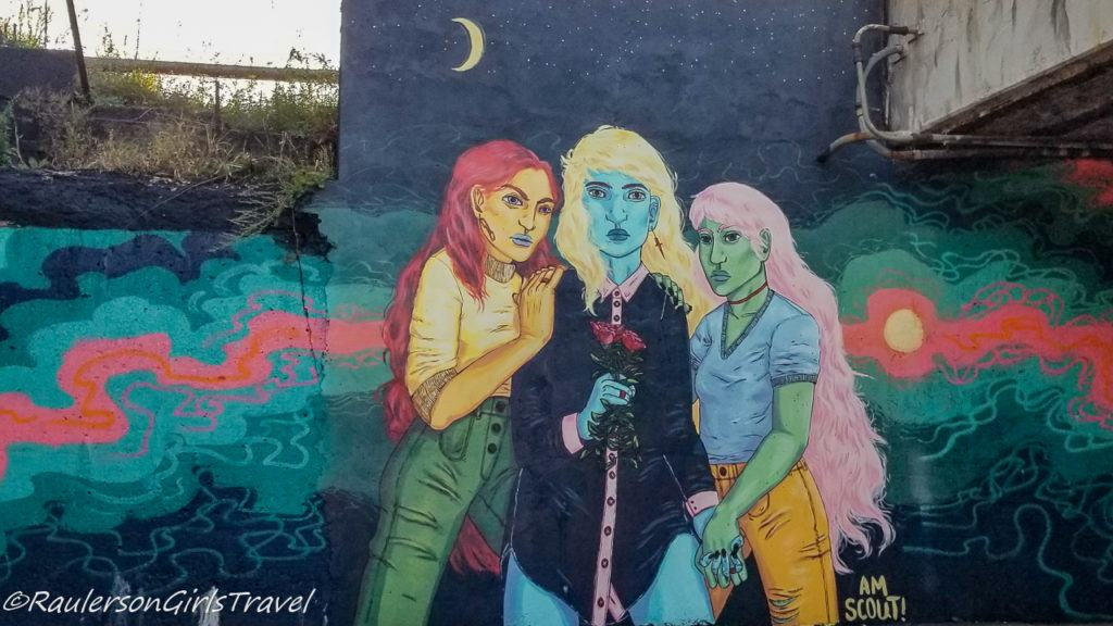 Detroit Street Art - Three Women