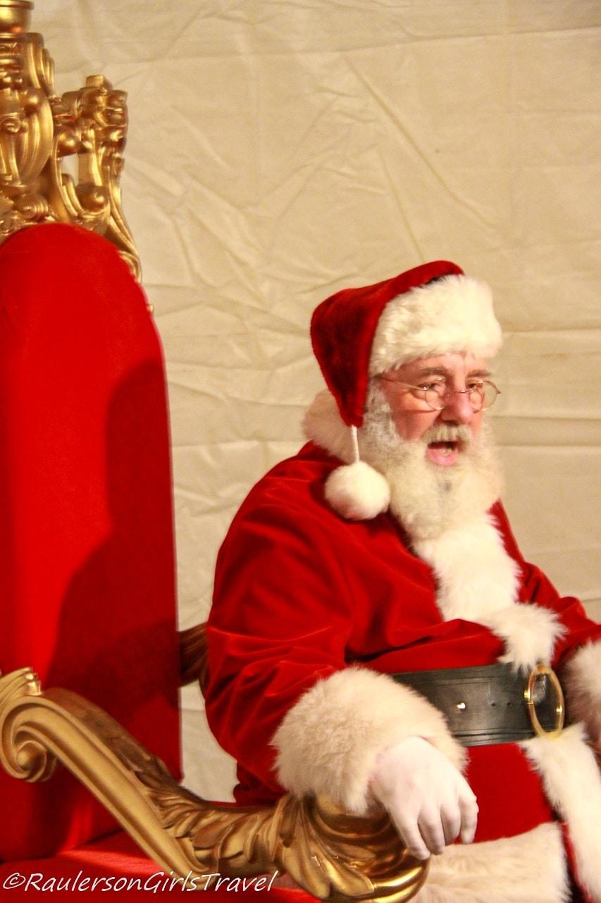 Santa at Kris Kringle Market