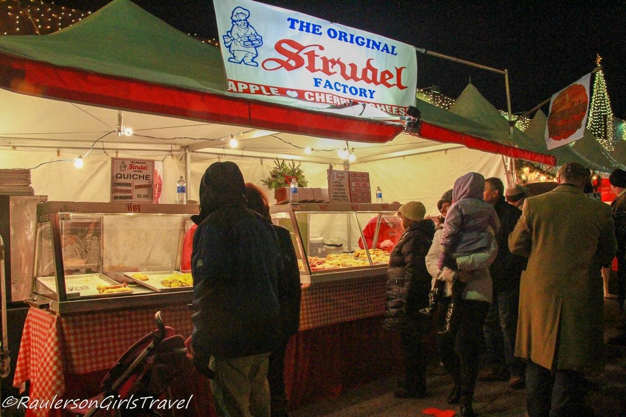 Strudel at Kris Kringle Market
