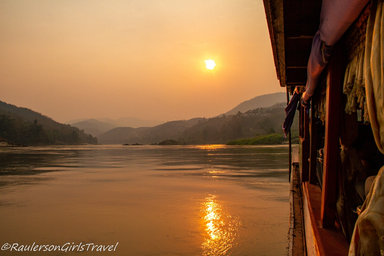 Laos slow boat on the Mekong River