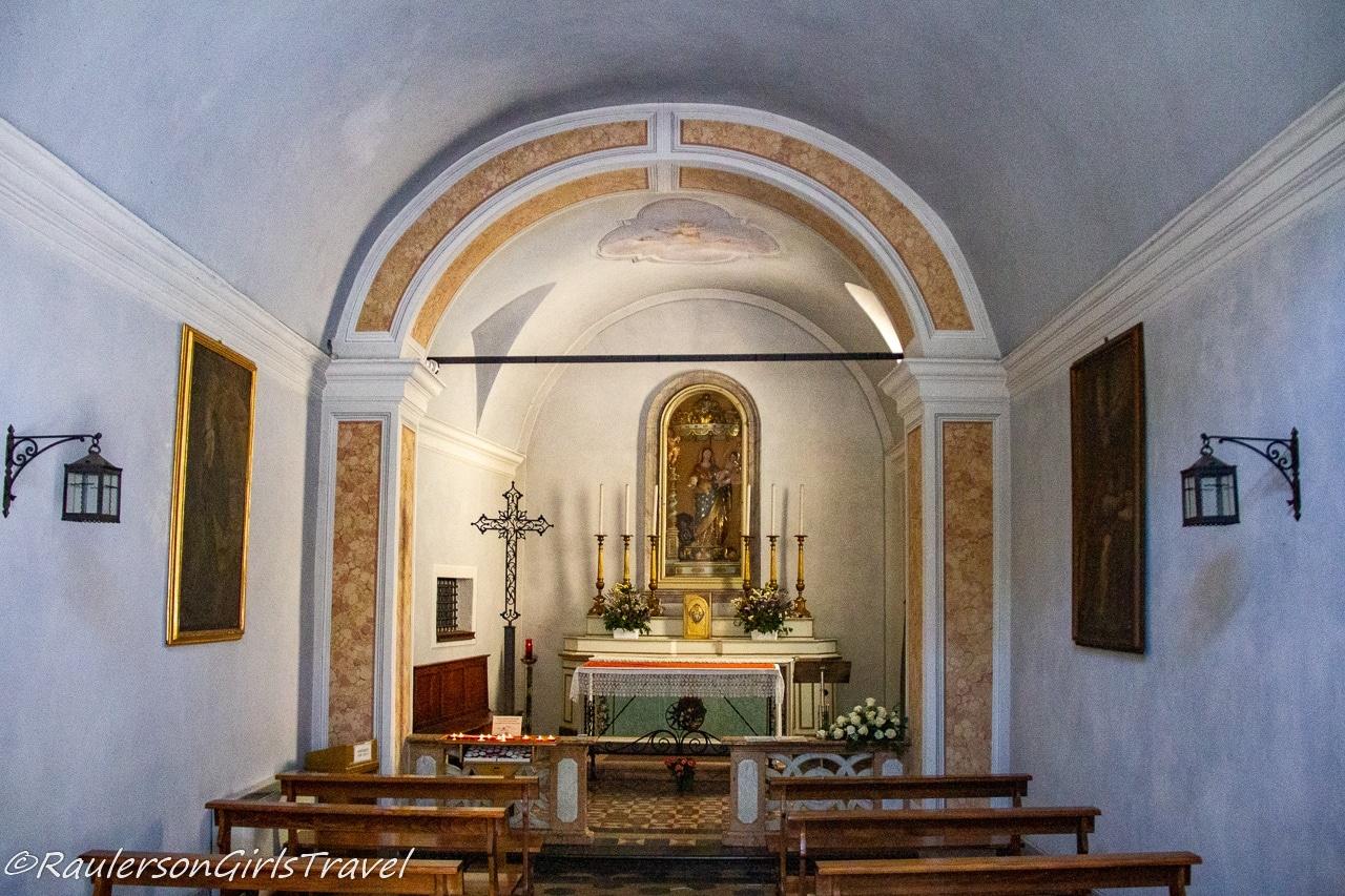 Interior of Chiesa di San Giorgio in Bellagio