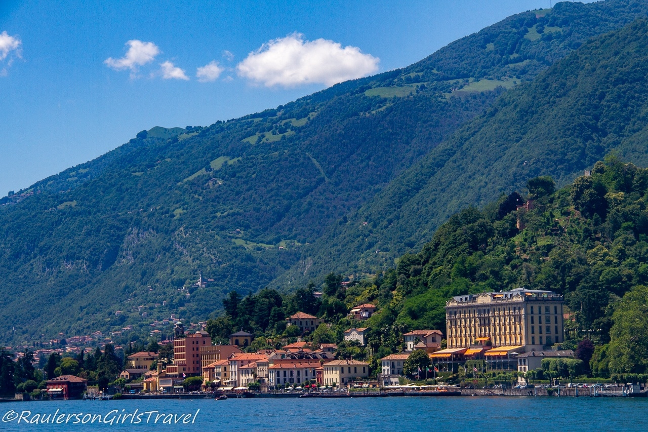 Towns on Lake Como - one of the stops on the fast boat ferry - things to do in Lake Como