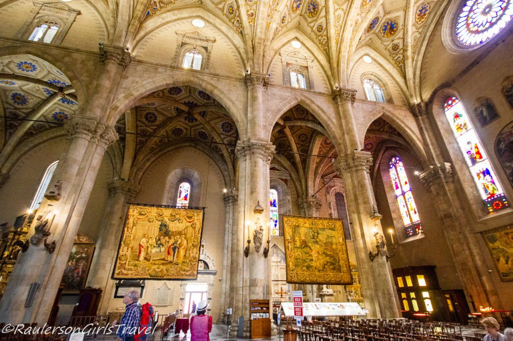 Tapestries inside the Cathedral of Como - things to do in Lake Como