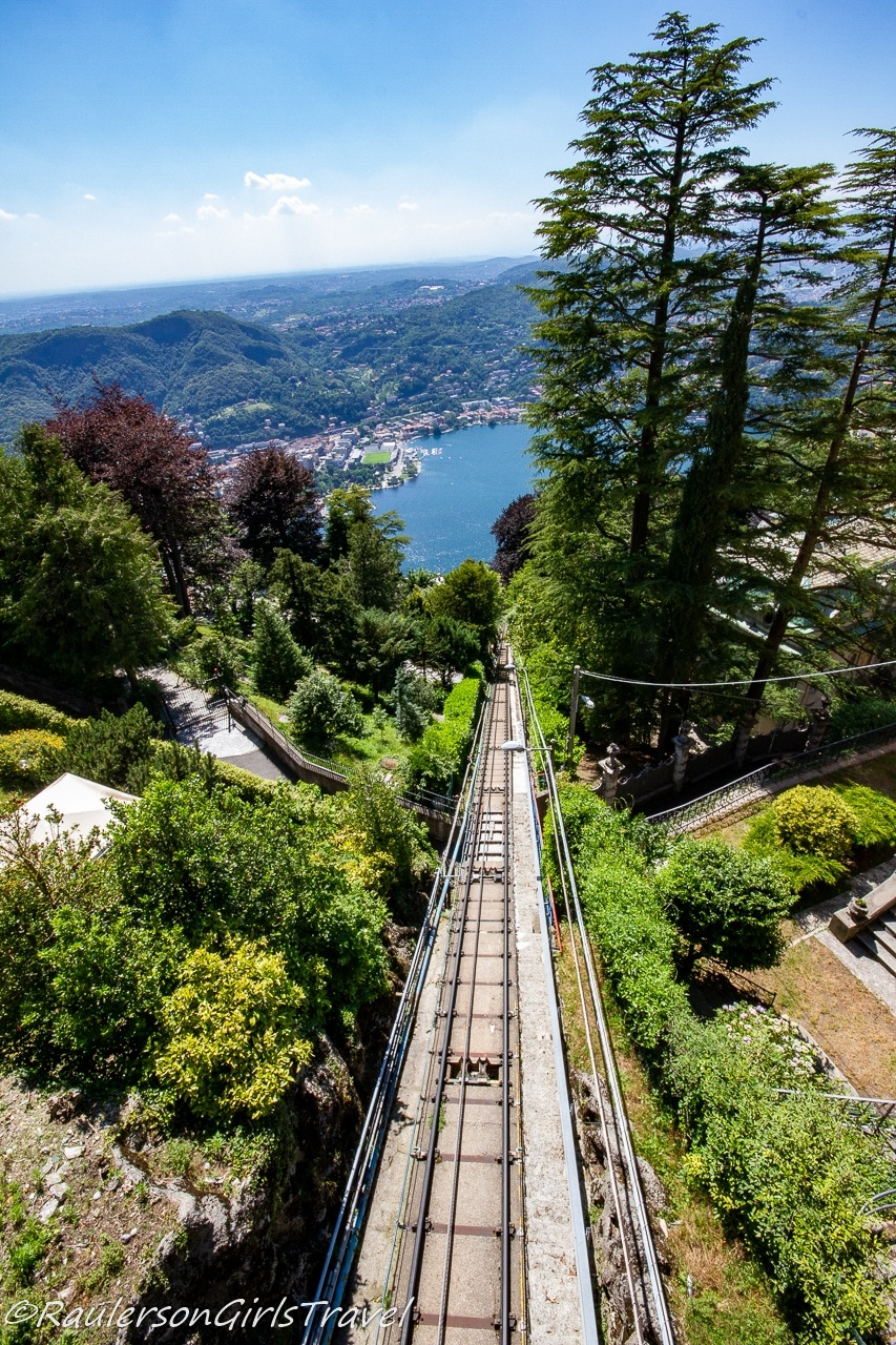 View of Como from Funicular at Brunate - things to do in Lake Como