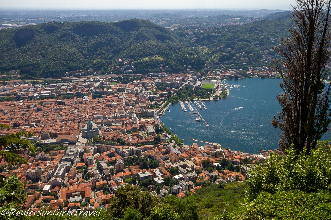 View of Como from Brunate - things to do in Lake Como