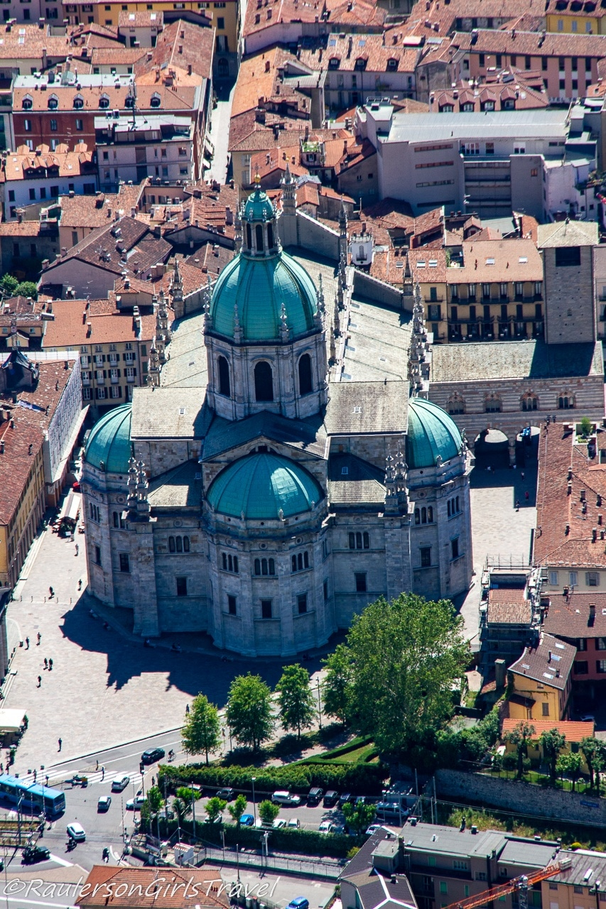 Aerial view of the Cathedral of Como