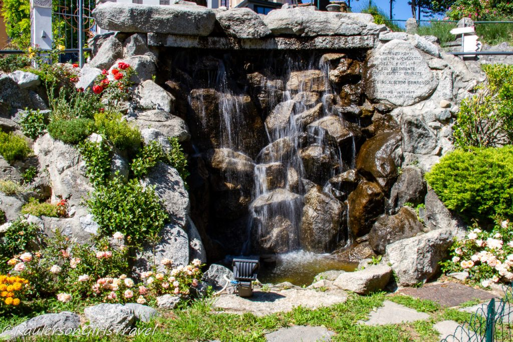 Waterfall at the top of the Como-Brunate Funicular