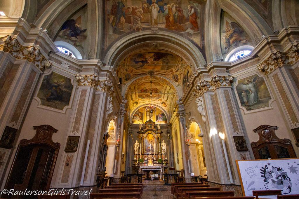 Altar in Chiesa di Sant' Andrea Apostolo in Brunate, Italy