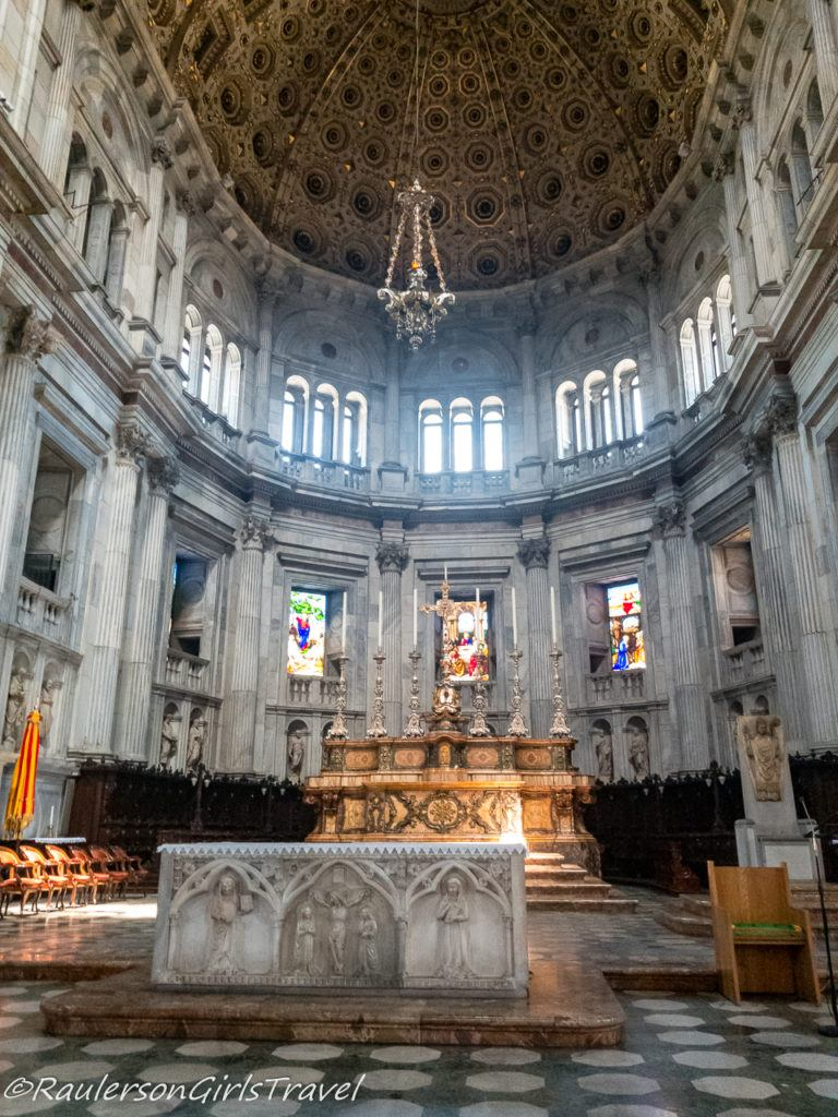 Cross and Altar in Cathedral of Como, Italy