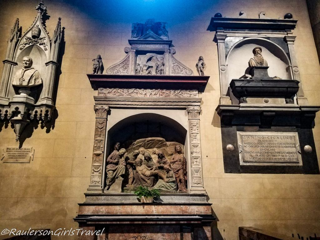 Memorials in the Cathedral of Como, Italy