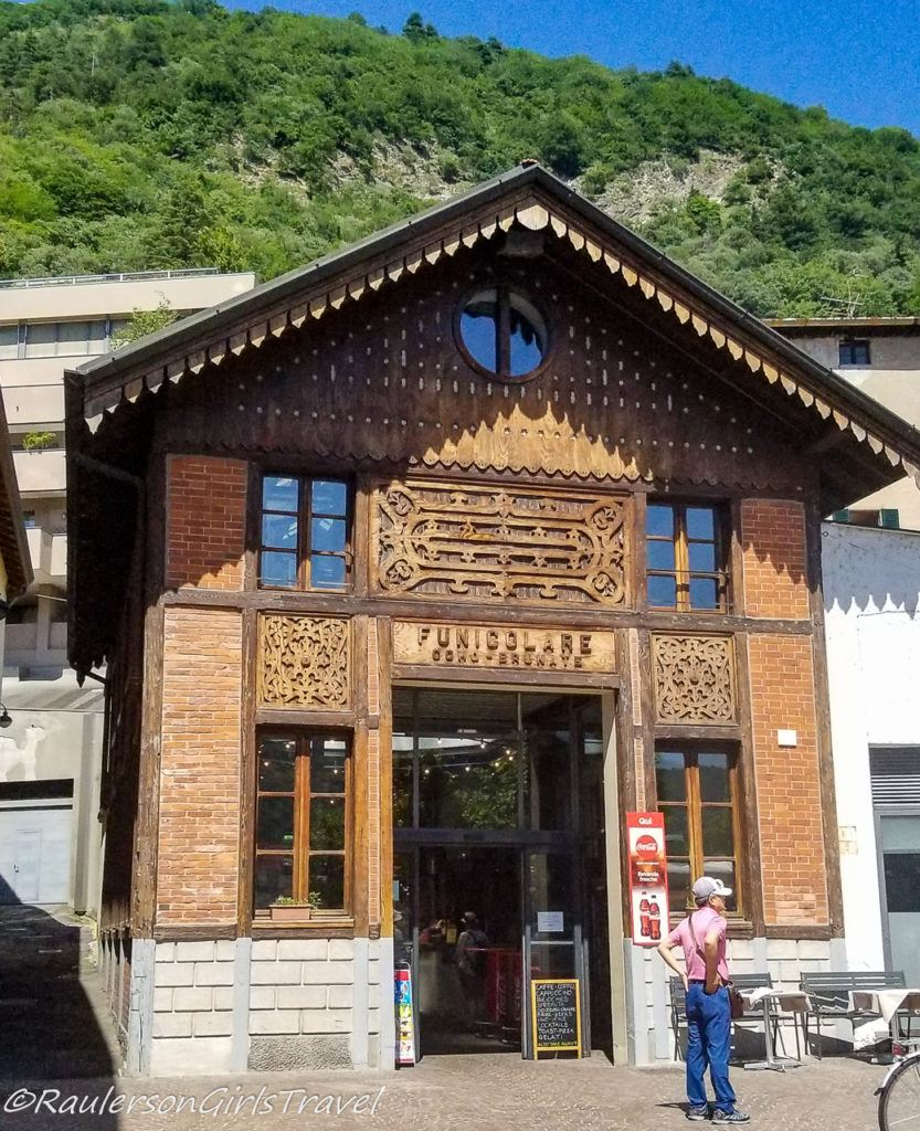 Entrance to Como-Brunate Funicular in Italy