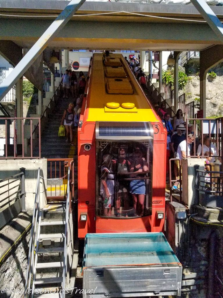 Como-Brunate Funicular Car in Italy