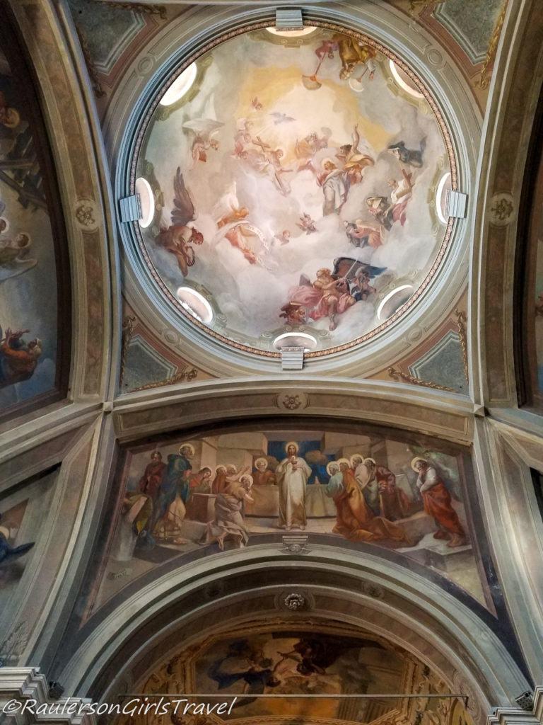 Painted Ceilings in Chiesa di Sant' Andrea Apostolo