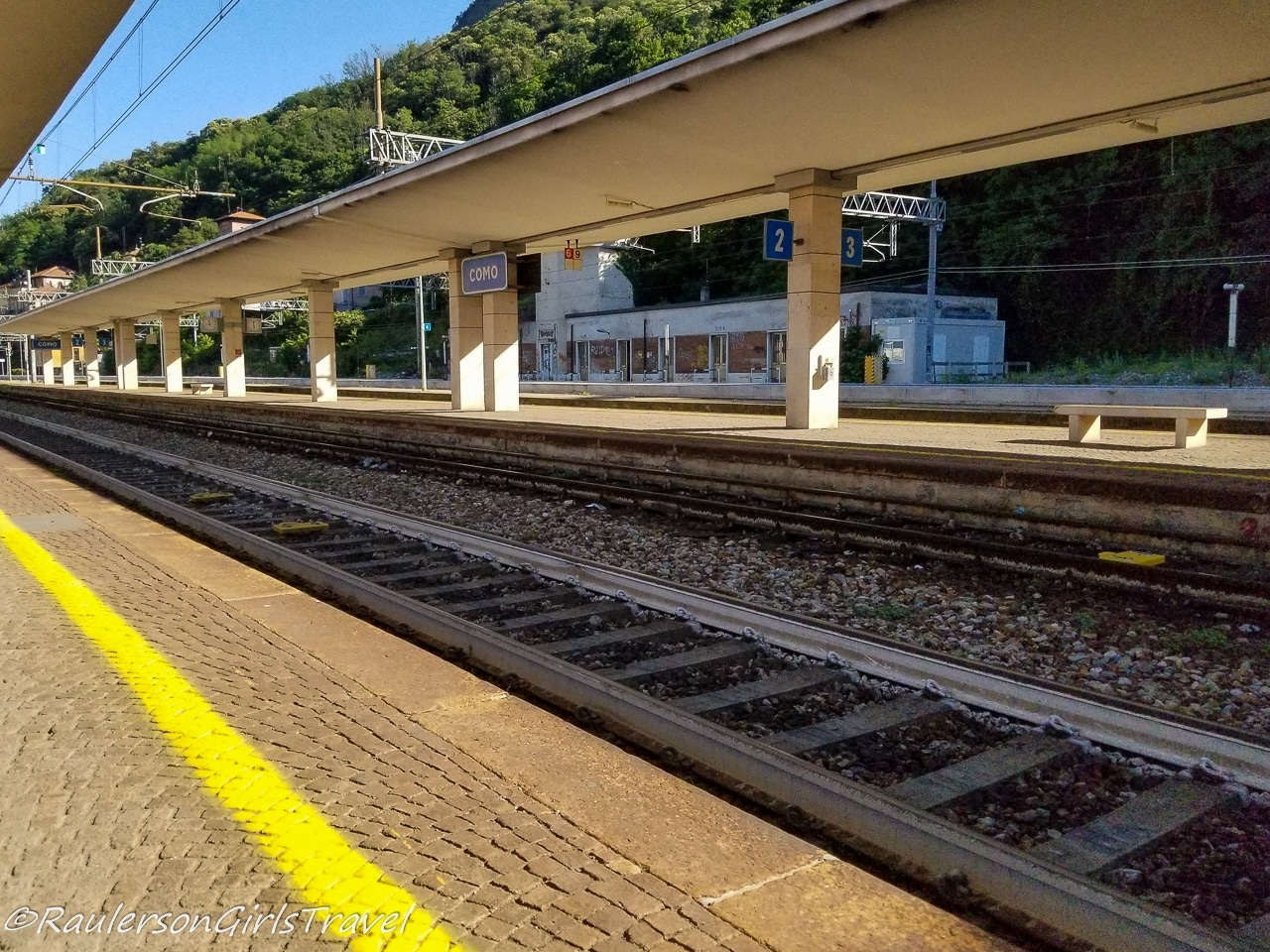 Railroad Station in Como, Italy