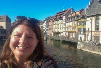 Heather celebrating birthday abroad in Strasbourg, France