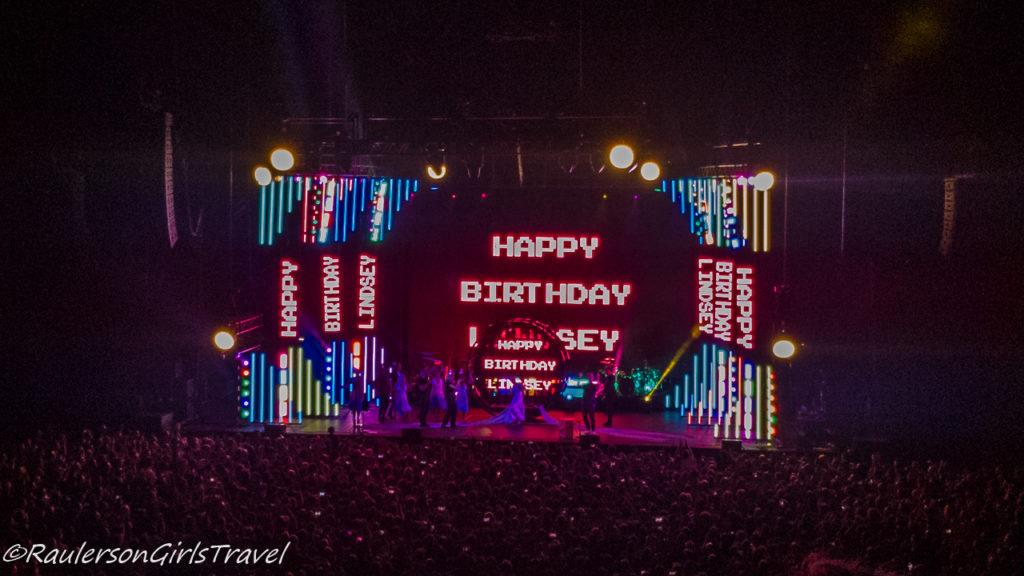 Lindsey Stirling concert - Celebrating Birthday Abroad