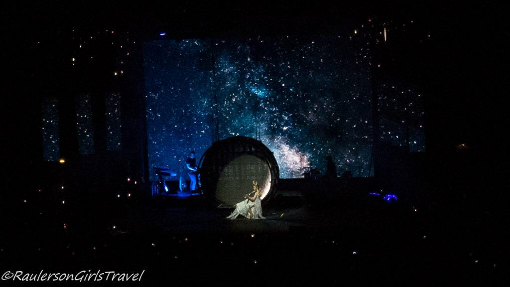 Lindsey Stirling concert - sitting in a moon