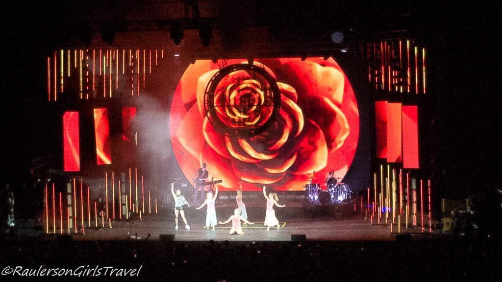 Lindsey Stirling concert - red flower