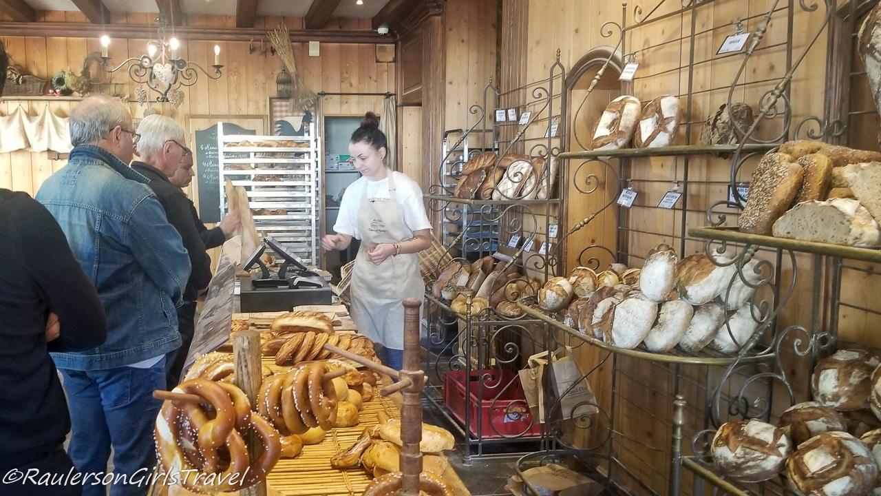 Queue for Bread at Au Pain de Mon Grand-Pere