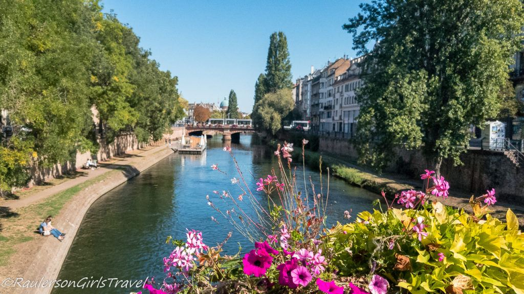 Peaceful views along the canal in Strasbourg