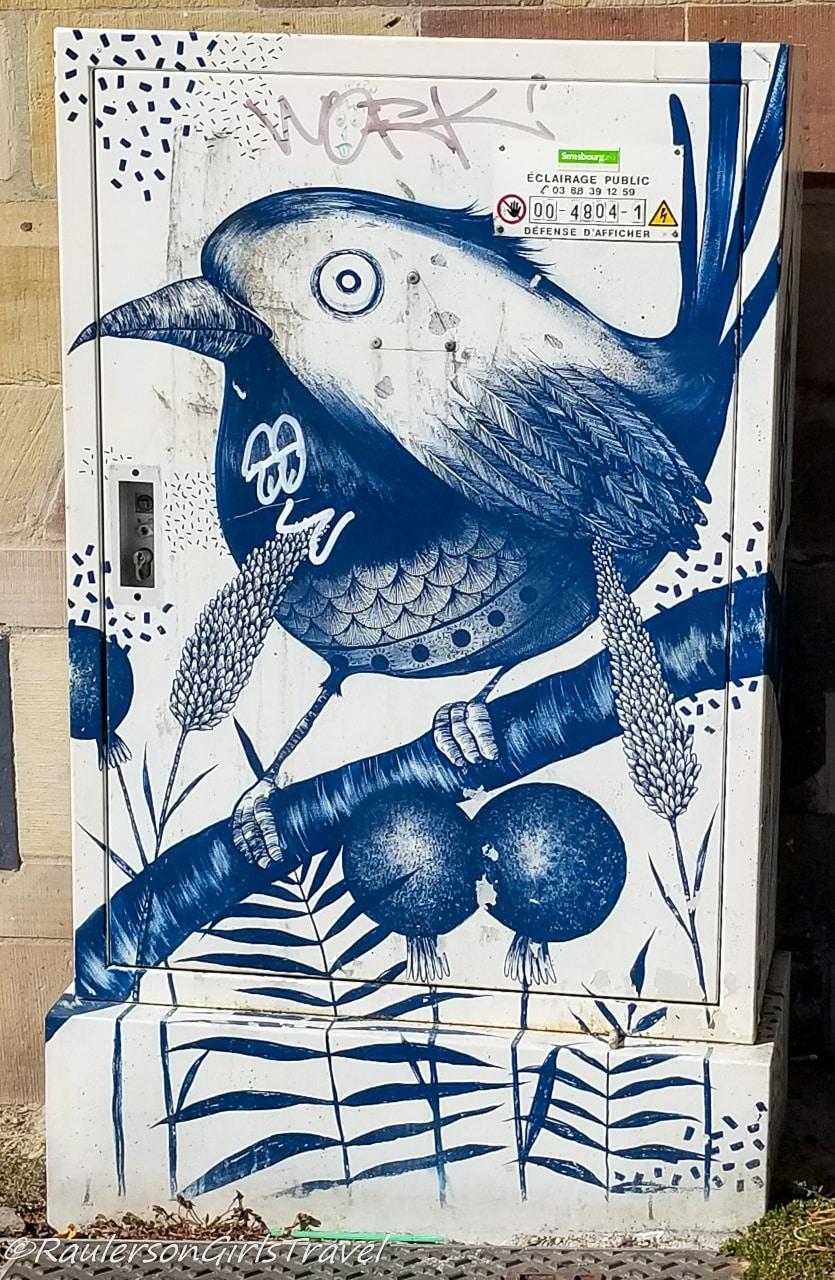 Bird on a branch street art