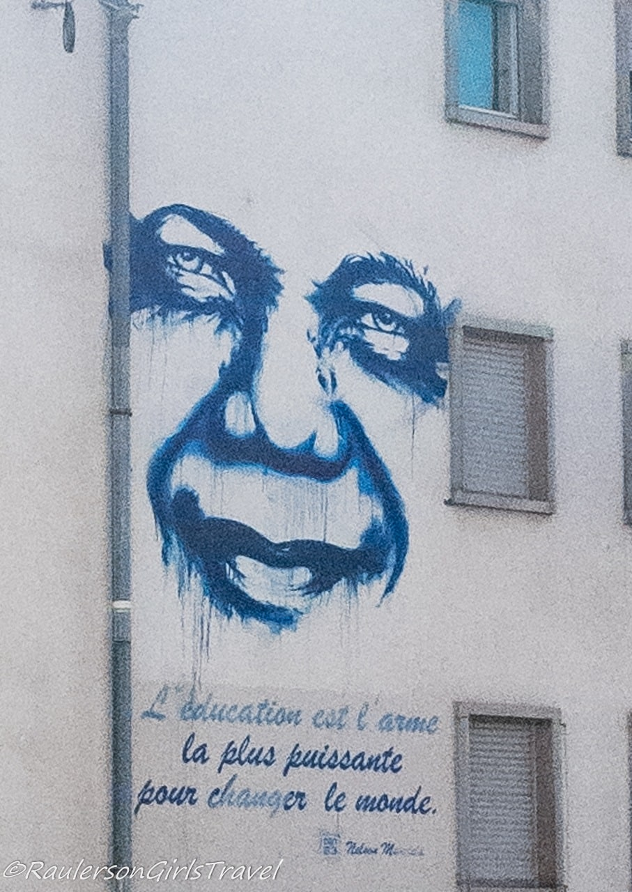 Education is the most powerful weapon for changing the world. - Nelson Mandela street art