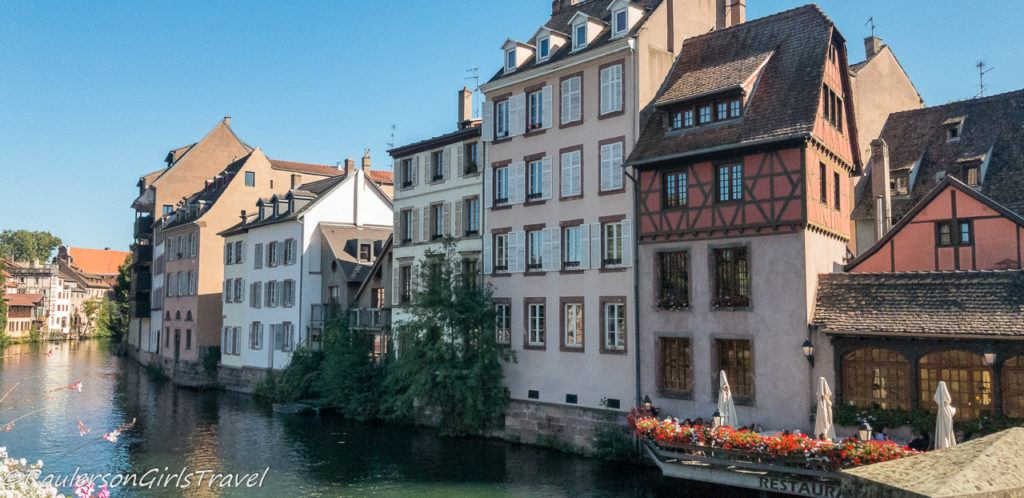View of buildings along Strasbourg canal