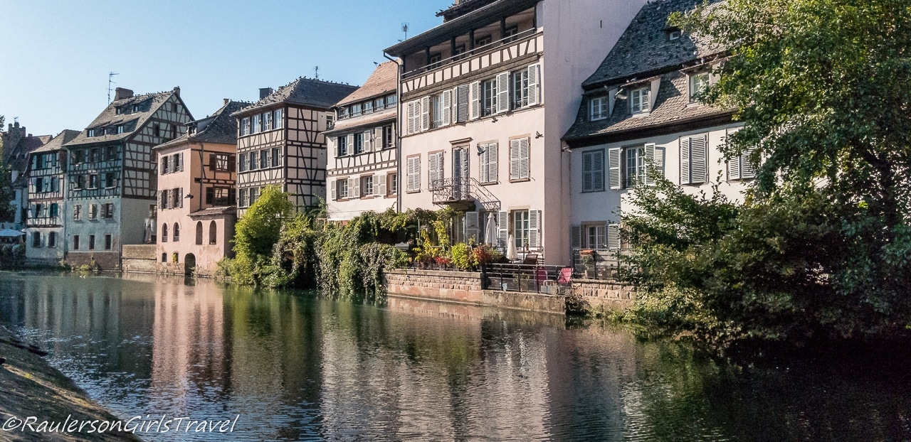 Buildings along the canal in Strasbourg