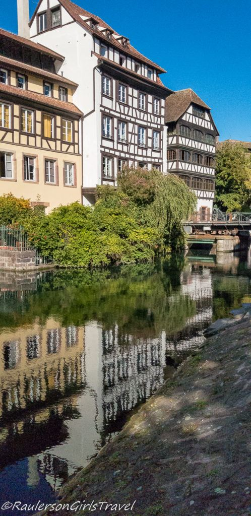 Timber-framed houses along the canal in Strasbourg