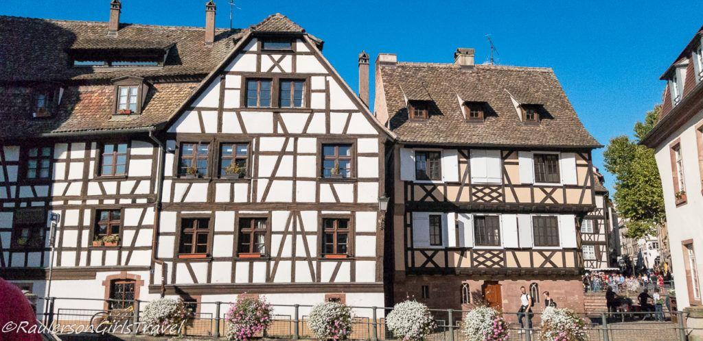 Two timber-framed houses in Strasbourg, France