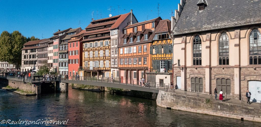 Old buildings along the Strasbourg Canal