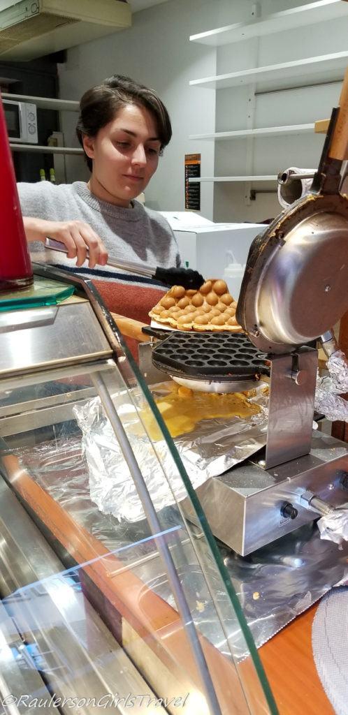 Making Waffles in Strasbourg