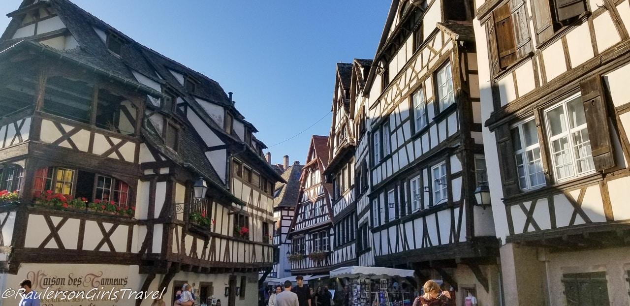 Timber-framed houses in Strasbourg, France