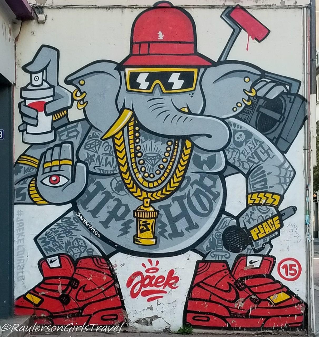 Elephant Hip Hop Artist Mural