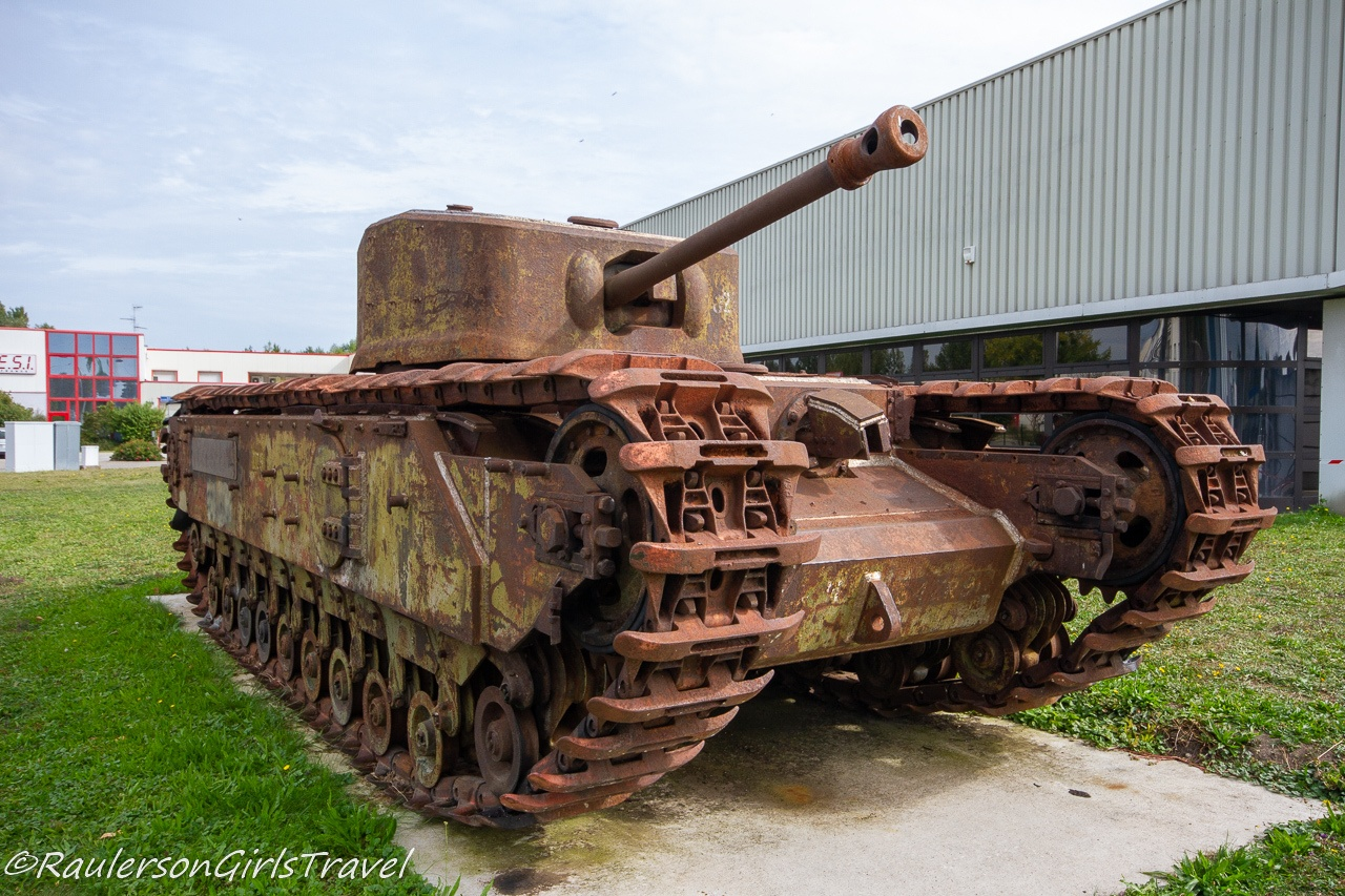Rusted tank outside of MM Park France