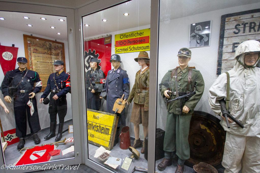 WW2 German uniforms display at MM Park France