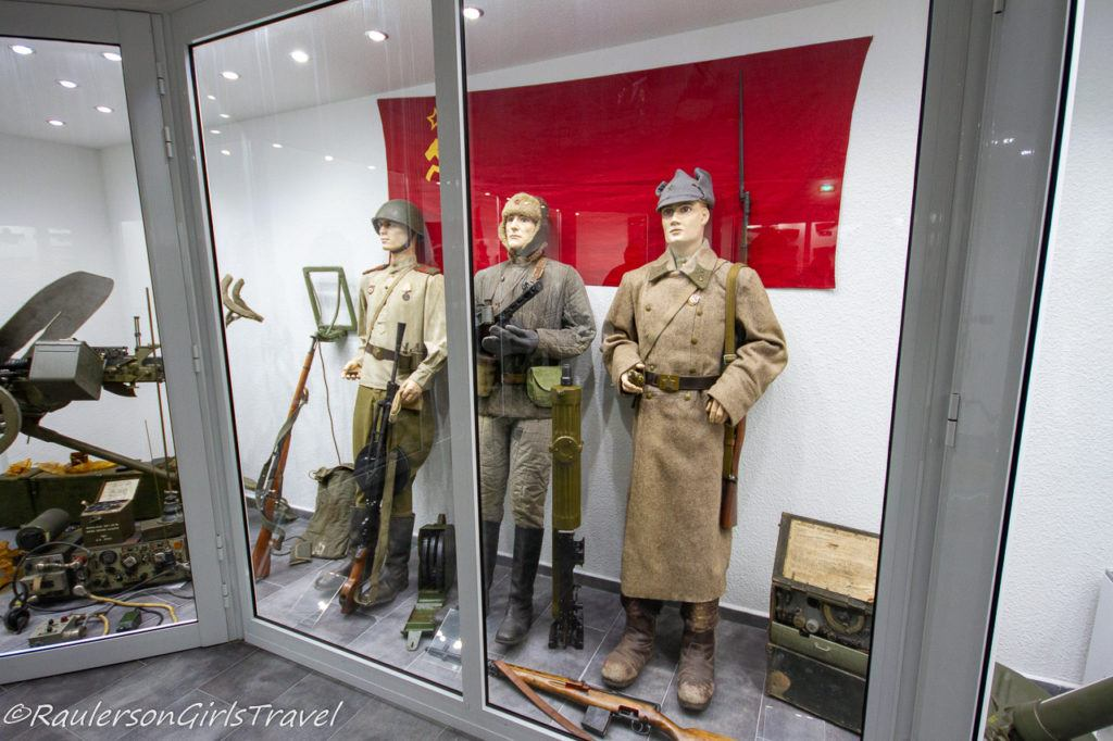 WW2 Russian uniforms with weapons