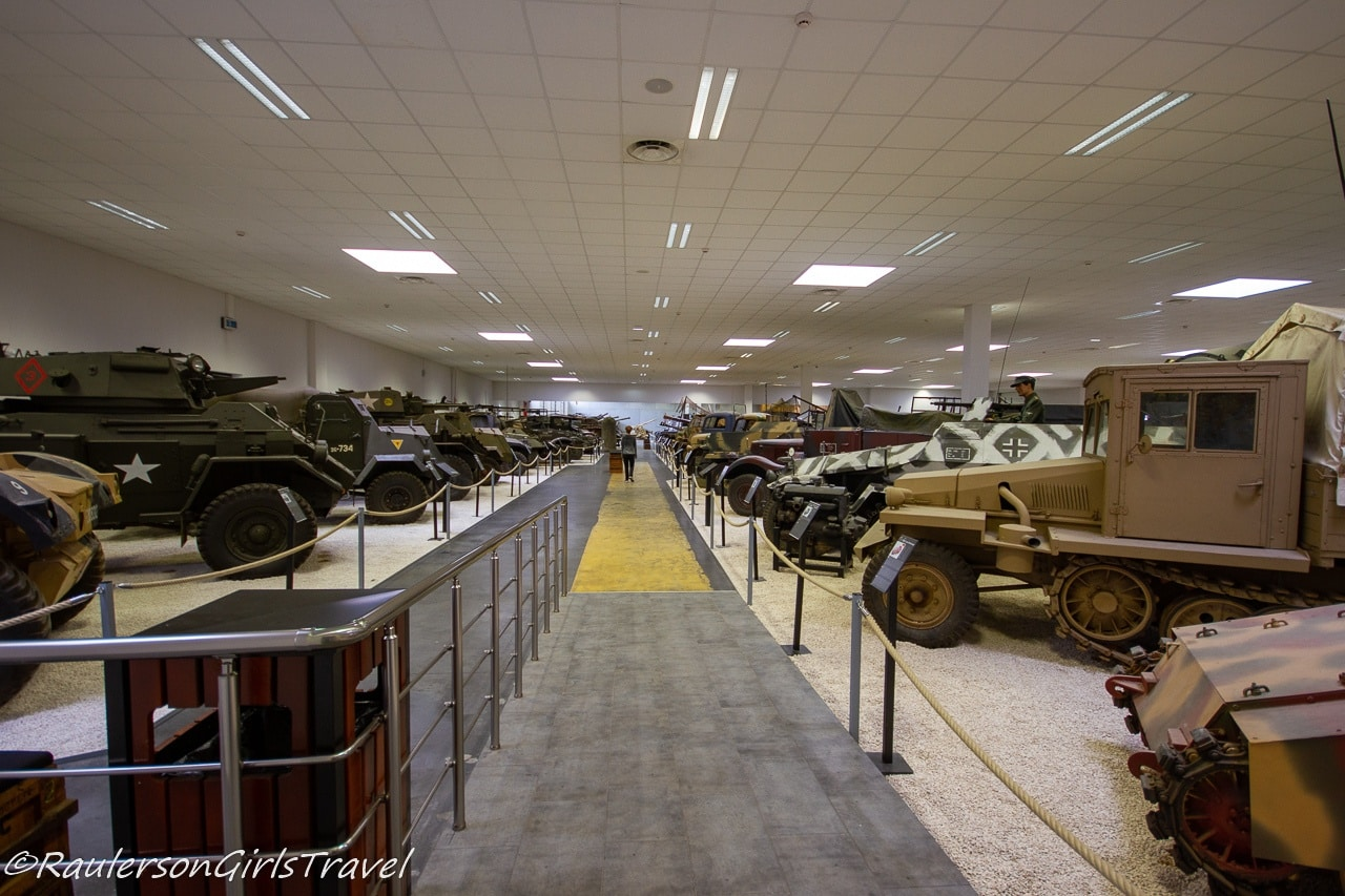 The WW2 tank display room at MM Park France