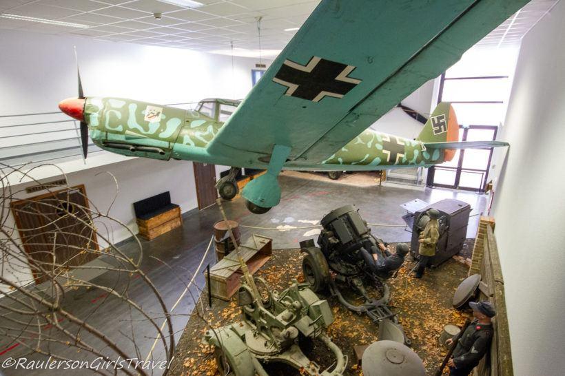 WW2 plane display at MM Park France