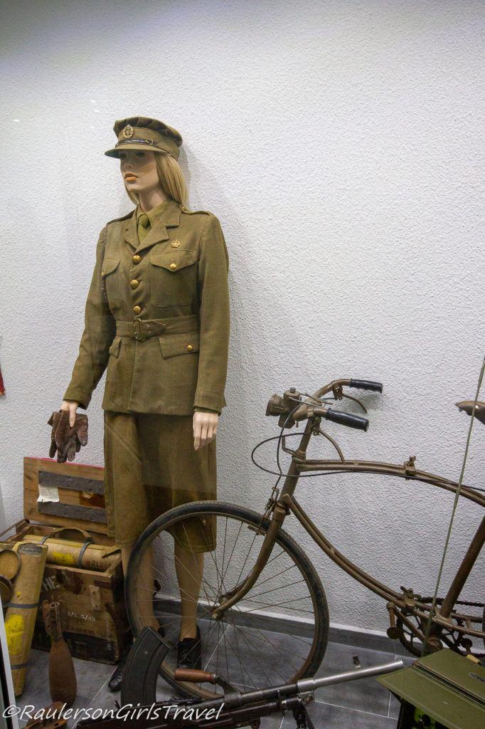 WW2 Ladies Uniform and Bicycle