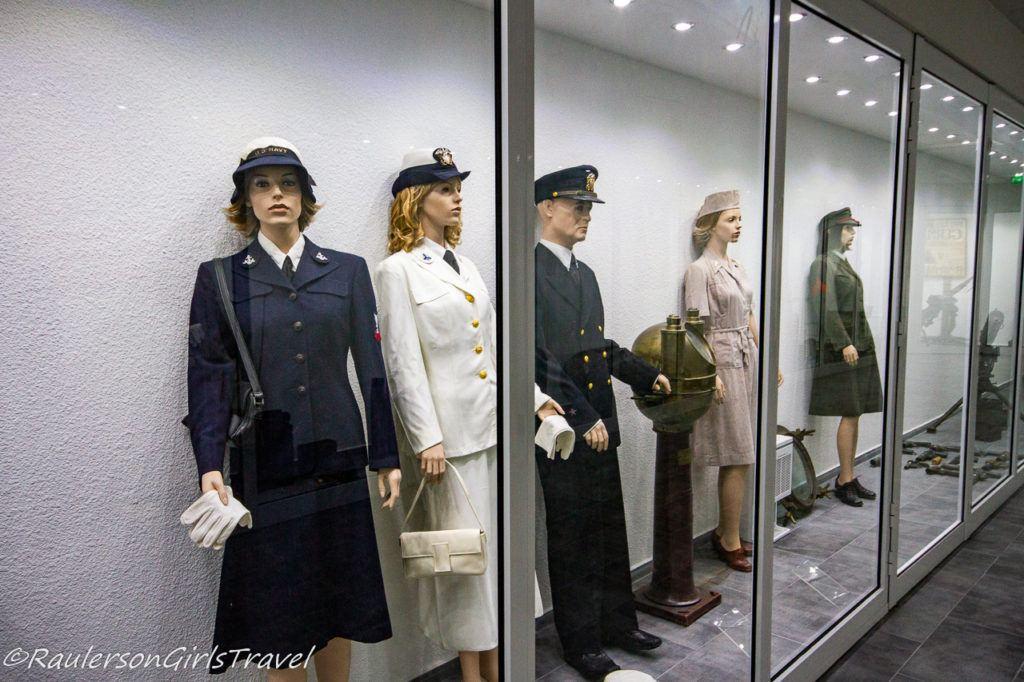 Women's uniforms in WW2 display